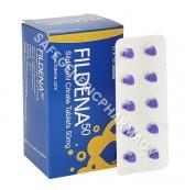 Fildena 50mg Tablet (Sildenafil Citrate)
